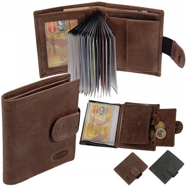 4b6af49cca87a Herren Geldbeutel Geldbörse Leder 21 Kreditkarten Herrenbörse 40028